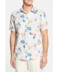 Tommy Bahama Denim Bolinas Point Print Regular Fit Short Sleeve Sport Shirt