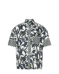 Yoshiokubo Dry Leaf Printed T Shirt