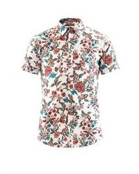 Gucci Floral Print Cotton Blend Shirt