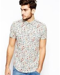 Antony Morato Shirt With Floral Print White