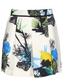 Proenza Schouler Ikebana Floral Print Shorts