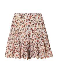 Chloé Scalloped Floral Print Tte Shorts