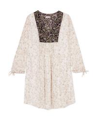 Paul & Joe Fauvette Floral Print Silk Crepon Dress
