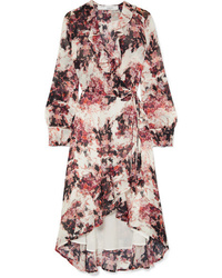 IRO Med Floral Print Tte Wrap Dress
