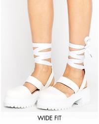 Asos Oblong Wide Fit Chunky Heels