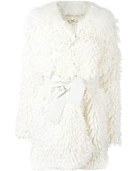 Fendi Belted Shaggy Knit Coat