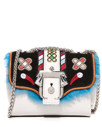 White Fur Crossbody Bag
