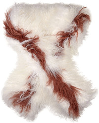 Fendi Bi Colour Shearling Scarf
