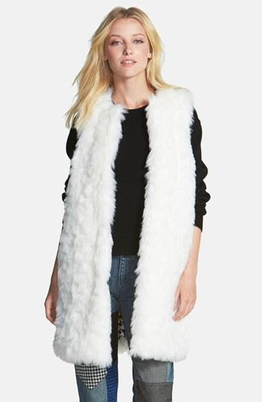 ccce14b039a ... MICHAEL Michael Kors Michl Michl Kors Long Faux Fur Vest ...