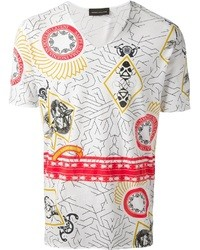 Geometric print t shirt medium 35764