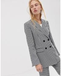 ASOS DESIGN Mini Gingham Suit Blazer