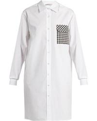 Christopher Kane Gingham Pocket Cotton Poplin Shirtdress
