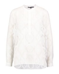 French Connection Edna Fil De Coup Blouse Winter White