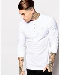 Diesel Long Sleeve Top T Niketas Slub Henley