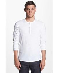 Vince Slubbed Cotton Henley T Shirt