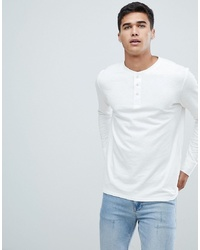 Selected Homme Long Sleeve T Shirt With Henley Neck