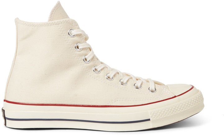 923210daa216c5 ... White High Top Sneakers Converse 1970s Chuck Taylor All Star Canvas  High Top Sneakers ...