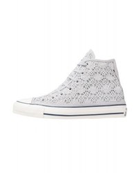Cuck taylor all star hi crochet high top trainers silverwhitenavy medium 4278591