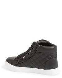 4b8014e5411 ... Steve Madden Decaf Quilted High Top Sneaker