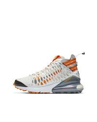 Nike White And Orange Ispa Air Max 270 Sneakers