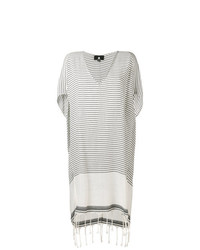 Su Poncho Style Striped Cover Up