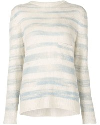 The Elder Statesman Horizon Striped Sweater
