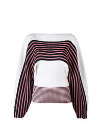 MSGM Loose Sleeves Striped Jumper