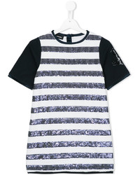Diesel Kids Striped Sequined Dress