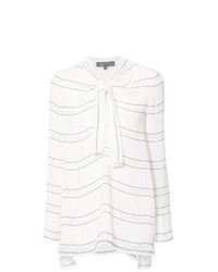 Proenza Schouler Tied Neck Striped Blouse