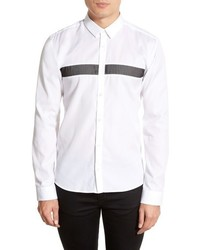 White Horizontal Striped Long Sleeve Shirt