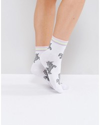 Asos Unicorn Stripe Welt Ankle Socks