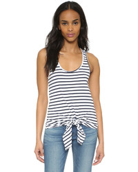 White Horizontal Striped Tank