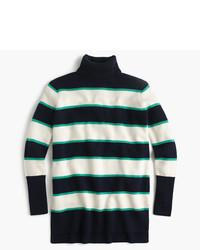 Striped turtleneck in wool cashmere medium 1154849