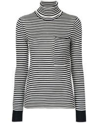 Striped turtleneck sweater medium 6748499