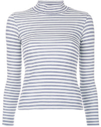 Striped turtleneck top medium 4346287