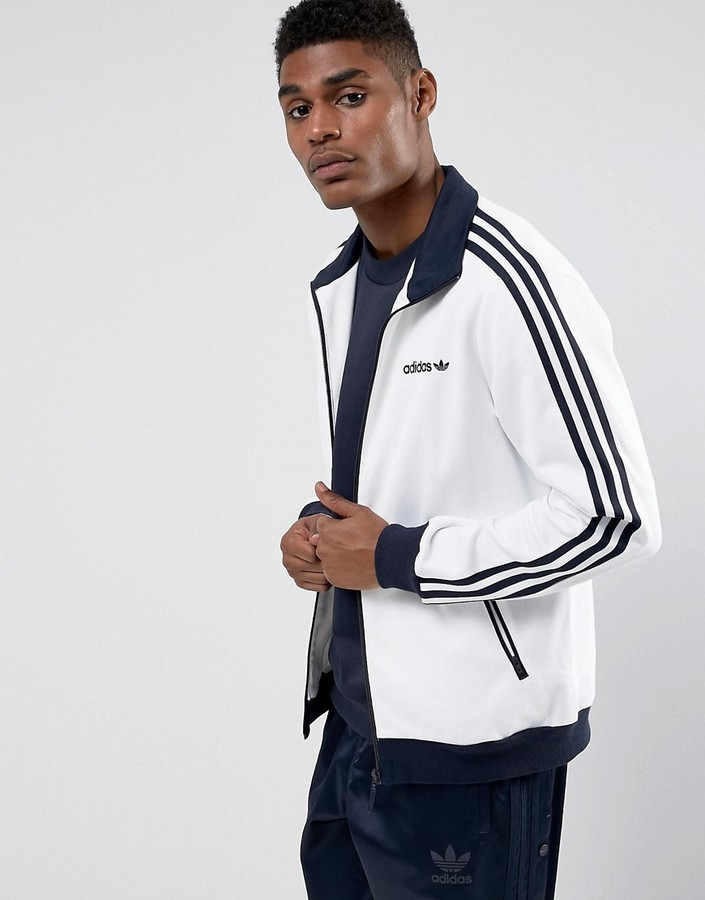 check out 9335b 470fb ... adidas Originals Beckenbauer Track Jacket In White Br4222 ...