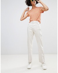Weekday Limited Collection Mom Jeans With Front Seam And Slit Hem In Organic Cotton