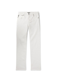 Balenciaga Slim Fit Distressed Stretch Denim Jeans