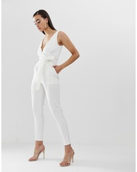 Outrageous Fortune Jumpsuit In White