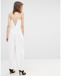Mango Low Back Wide Leg Jumpsuit