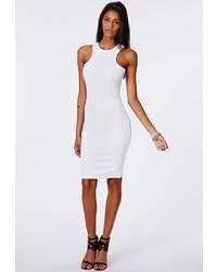 White Knit Bodycon Dress