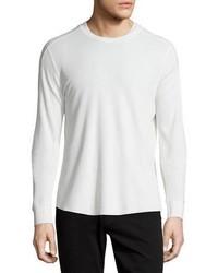 White Knit Crew-neck Sweater