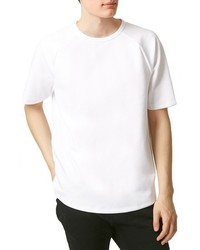 White Knit Crew-neck T-shirt