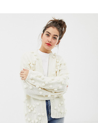 Oneon Hand Knitted Pom Pom Cardigan