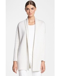 St. John Collection Shawl Collar Cardigan Bright White Limestone Petite