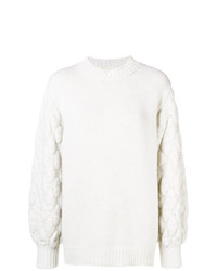 Fine Edge Cable Knit Jumper