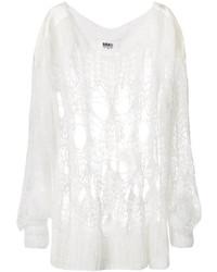 Oversized open knit sweater medium 4471168