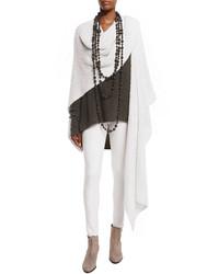 Urban zen knit cashmeresilk cloud wrap white smoke medium 1101655
