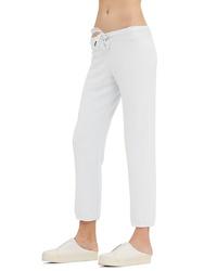 White Knit Sweatpants