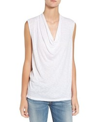Splendid Cowl Neck Slub Knit Tank
